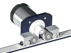 Belt-driven linear rail