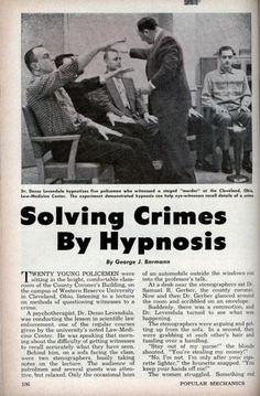Publicité Solving Crimes By Hypnosis
