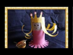 Make a princess out of a toilet paper tube Toilet Paper Roll Art, Rolled Paper Art, Toilet Paper Roll Crafts, Projects For Kids, Diy For Kids, Crafts To Do, Crafts For Kids, Princess Crafts, Crafty Kids
