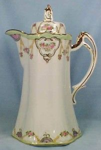 HAND PAINTED NIPPON CHOCOLATE POT