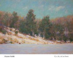 Painting Snow, Winter Painting, Small Paintings, Landscape Paintings, Landscapes, John Mcdonald, Classical Art, Winter Landscape, Nature Pictures