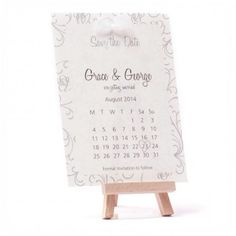Sarahaleixs Stationery: Roses Save the Date Card in Silver with White Bow Detail