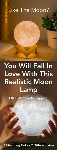 Bring The Moon Into Your Home - Realistic Magical Moon Lamps Table For Change great ideas for living a greater life My New Room, My Room, Hunter Douglas, Diy Home, Home Decor, Art Decor, Reno, Home And Deco, Cool Ideas