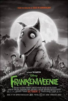 Kids Movies With A Tim Burton Flair? That's Disney's Frankenweenie! It's out TODAY! {10/5}