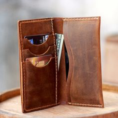 Iphone Wallet / Iphone 5 Leather Wallet / Clutch / Purse / Womens Wallets / Mens Wallets / Bags and Purses / Iphone Wallets / Iphone Case via Etsy