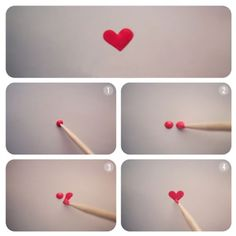 How to make a heart with nail polish in 4 easy steps