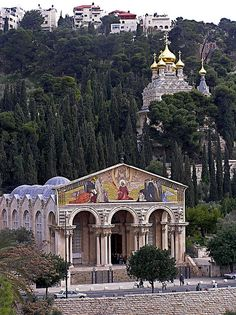 Mount of Olives and the Church of all Peoples. Jerusalem, ISRAEL