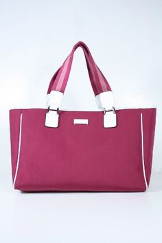 Gucci Handbags Red Pink Fabric and White Leather « Clothing Impulse