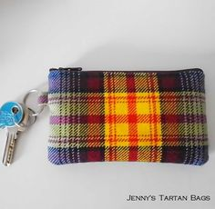 Declaration of Scottish Independence tartan key ring purse for sale at Jenny's Tartan Bags