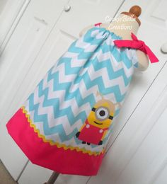 Despicable Me Girl Minion Chevron by CookieBellaCreations on Etsy