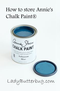 Information on How to Store Annie's Chalk Paint® found on stockist Lady Butterbug's blog: http://www.ladybutterbug.blogspot.com/2015/04/annie-sloan-chalk-paint-how-to-store.html