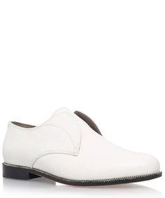 Hudson London White Leather Willow Slip Ons | Womenswear | Liberty.co.uk