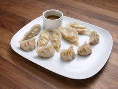 Get Vegetarian Steamed Dumplings Recipe from Food Network Steamed Dumplings, Dumpling Recipe, Chinese Dumplings, Food Network Recipes, Wine Recipes, Asian Recipes, Oriental Recipes, Asian Foods, Chinese Recipes