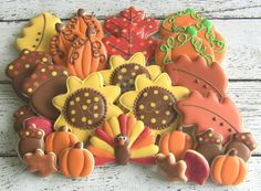 Thanksgiving Decorated Sugar Cookies