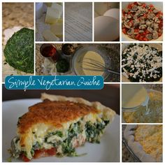 vegetarian quiche recipe- this was decent. I'm not sure that I'll ever get a quiche to be more than just ok. Vegetarian Quiche, Vegetable Quiche, Vegetarian Recipes, Healthy Recipes, Frugal Recipes, Cooking Recipes, Quiche Recipes, I Love Food, Brunch