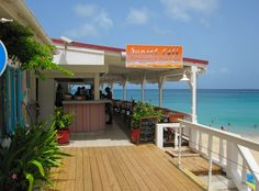 Grand Case Beach Club - Sunset Cafe- Ate here when visiting St. Marteen- beautiful view