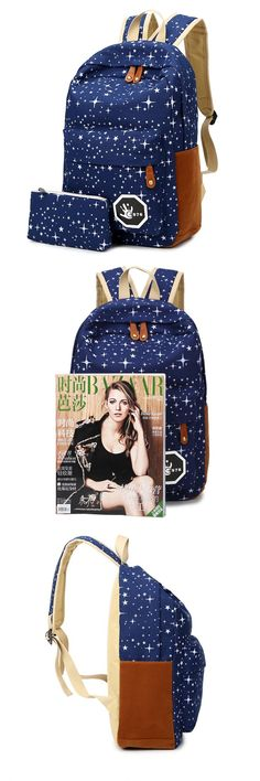 [Visit to Buy] 2016 Hot Sale Canvas Women backpack Big Capacity School Bags For Teenagers Printing Backpacks For Girls Mochila Escolar APB02 #Advertisement