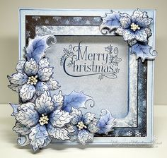 I hope you are having a good weekend.I am keeping up with my christmas card making .one a week. back to my favorite flower fo. Poinsettia Cards, Christmas Poinsettia, Christmas Cards To Make, Homemade Christmas Cards, Xmas Cards, Handmade Christmas, Homemade Cards, Holiday Cards, Crochet Christmas