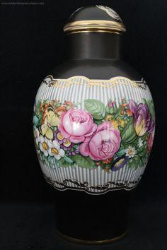 Superb Selten Nymphenburg Porzellan 28cm Blume Deckelvase Josef Wackerle Perfekt | JPEGbay.com