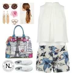 """""""Nicole Lee Europe Satchel Bag!"""" by nicoleleeusa ❤ liked on Polyvore featuring ONLY, Vans, Illesteva and BEA"""