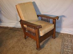 Tiger oak column Morris chair, this chair reclinable