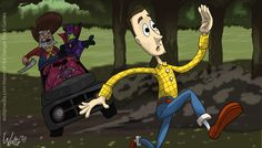 Woody and Forrest have plaid in common