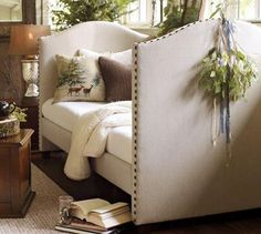 Pad an upcycled baby crib? Turn it into a reading nook??                                                      YES PLEASE!