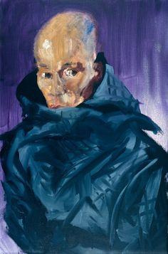 Rainer Fetting (German, b. Desmond with Hood, Oil on canvas, 120 x 80 cm. Bad Painting, Rainer Fetting, Art Blog, Fashion Art, Oil On Canvas, Contemporary Art, German, Superhero, Drawings