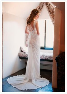 Peter Langner ivory wedding gown