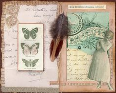 Vintage pretties #ArtJournal pages.