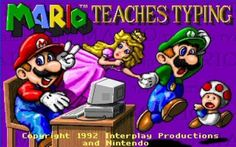 Heck yeah, Mario Teaches Typing!