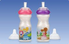 Cups and Spouts, Printed, Princess Sports Sippers. Almost every little girl dreams of being a princess. That's one reason why your little one is sure to love the Princess Sport Sipper from Nûby™.
