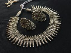 Silver Jewellery Indian, Silver Jewelry, Silver Necklaces, Silver Earrings, Silver Payal, Global Desi, Indian Fabric, Bridal Style, Antique Silver