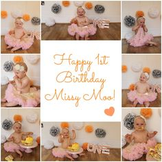 Missy Moo's Milestones: 1st Birthday Cake Smash - Let's Talk Mommy