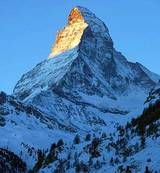 The Hornli Ridge in the center of the image is the usual climb up the Matterhorn....