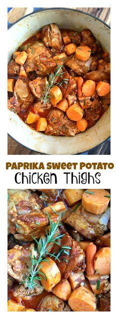 Easy Dinner Tonight: Paprika Sweet Potato Chicken Thighs