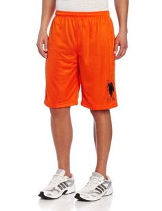 ffec7ff325 U.S. Polo Assn. Men's Polyester Mesh Short, Black, Small at Amazon Men's  Clothing store: Athletic Shorts