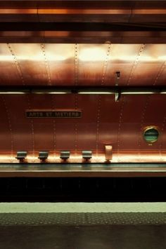 \\ Arts et Metiérs | InspireLog | Metro station in Paris by Stan Koolen http://stankoolen.tumblr.com/