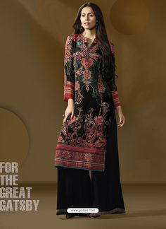 Beautiful Black Printed Palazzo Suit Bollywood Dress, Palazzo Suit, Kamiz, Indian Suits, Indian Ethnic Wear, Salwar Suits, Black Print, Indian Fashion, Party Wear
