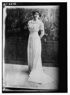 Woman in vintage dress photo