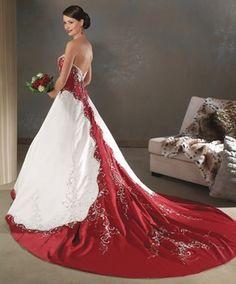 Aliexpress Buy New Whiteivory And Red Wedding Dress Custom ...