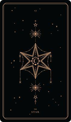 iphone wallpaper stars The Star Soul Cards Witchy Wallpaper, Star Wallpaper, Mystic Wallpaper, Geometric Tatto, Foto Fantasy, Tarot Tattoo, Star Tarot, Halloween Tattoo, Mandala Tattoo Design
