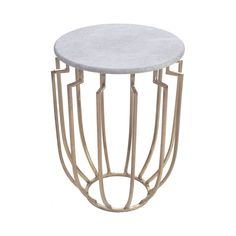 The Byzantine Occasional Table indulges a number of design fantasies and brings primitive elegance to a contemporary space. Marvel over its gorgeous round marble tabletop and the intriguingly shaped ba...  Find the Byzantine Occasional Table, as seen in the Accent Tables Collection at http://dotandbo.com/category/furniture/tables/accent-tables?utm_source=pinterest&utm_medium=organic&db_sku=109574