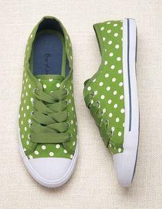 Sage green polka dots