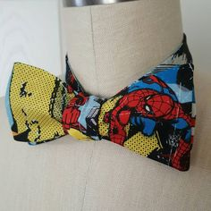 Check out this item in my Etsy shop https://www.etsy.com/listing/451333398/self-tie-bow-tie-the-avengers-spiderman