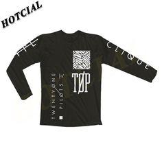 2016 Nouveau Vingt On Pilote D'impression T Chemises Hommes Manches Longues Brand Design Été Homme Tops T Mode Casual Noir T-shirts Pour homme