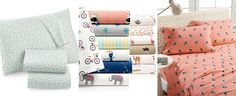 Whim by Martha Stewart Collection Print Cotton Percale Queen Sheet Set, Only at Macy's - Sheets - Bed & Bath - Macy's