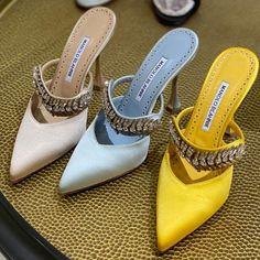 Leather Dye, Calf Leather, Sexy Heels, High Heels, Designer Heels, Winter Shoes, Manolo Blahnik, Fashion Shoes, Women's Fashion