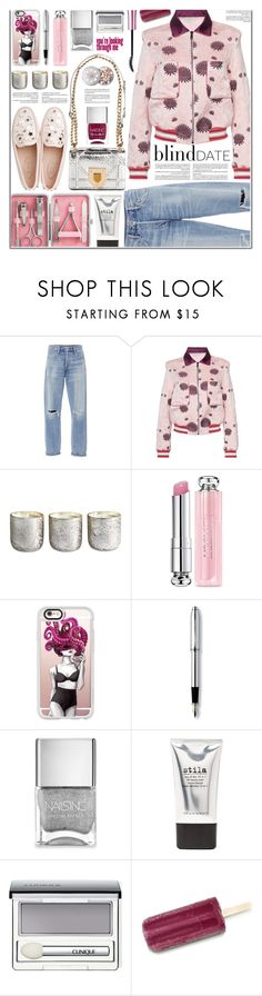 """Magic Slippers: Embellished Shoes"" by martinikiss ❤ liked on Polyvore featuring Citizens of Humanity, Giamba, Illume, Christian Dior, Casetify, Cross, Nails Inc., Stila, Clinique and embellishedshoes"