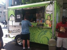 Food Cart Friday: Banzo... I like the color and floral design